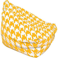 Yellow Houndstooth Bean Bag