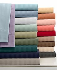 "New 800-TC 100% Cotton Stripe Sheets 31"" Deep Pocket 4-PC OR 6-PC Sheet Set"