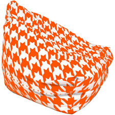 Orange And White Houndstooth Bean Bag