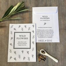 10, 25, 50 Wildflower Seed Packet Favours - Wedding / Funeral / Remembrance