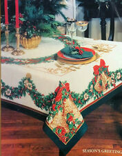 """84""""X60"""" Rectangle Cotton Table Cloth Table Cover Rooster Green For Kitchen 139"""