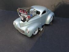 1941 Willys Coupe Street Rod Muscle Machines Die Cast 1/18 scale Model No Box