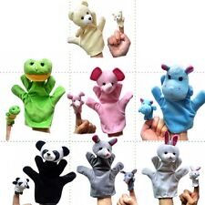 2pcs Cartoon Family Finger Puppets Cloth Doll Baby Educational Hand Animal Toys
