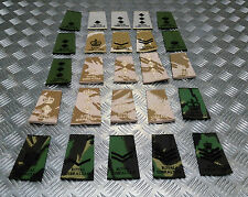Genuine British Army Royal Gibraltar Regiment Rank Slide Various Colours Ranks