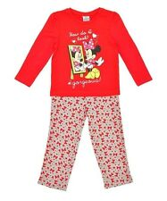 Girls Offical Disney Gorgeous Long Sleeve Minnie Mouse Pyjama Set RRP £9.99 BNIP