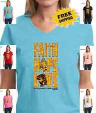 New Religious Christian Faith Hope Jesus My God Prayer Cross Womens T-Shirt