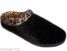 LADIES COOLERS BLACK FAUX SUEDE SLIPPERS MULES CLOGS LIGHT WEIGHT SIZE 4,5,6,7,8