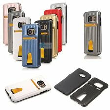 SUITCASE Card Holder Soft Inner Case Hard Skin Cover For Samsung Galaxy Models
