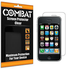 6X COMBAT HD Screen Protector Cover Film Shields For Apple iPhone 3GS 3G