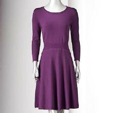 Simply Vera Vera Wang Fit & Flare Sweater Dress - Women's Purple
