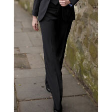 Brook Taverner - Loreto Suit Trouser Ladies Boot Low Waist Charcoal Pinstripe