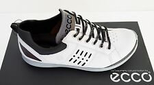 New ECCO Mens Biom Hybrid 2 GTX Golf Shoes - White/Black(151534-51227)