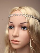 Hair Chains Gilt or Silv on Stretchy Elasticated Headband Hair band Night Out