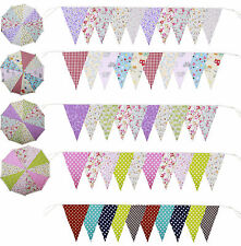 Handmade Fabric Bunting vintage floral Shabby Chic Wedding Party 10ft 20ft 40 ft