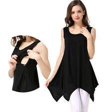 NEW Loose Maternity Pregnancy Clothes Summer Nursing Tank Top Breastfeeding Tops
