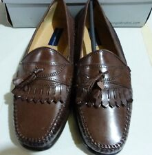 Men's Giorgio Brutini Leather Tassel Loafer, Brown, NWD