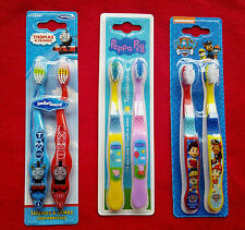 ChildrensToothbrush pack/ Thomas and friends/Peppa pig/Paw patrol/Double pack