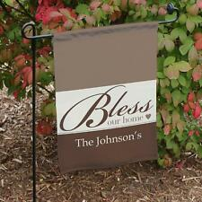Personalized Bless Our Home Garden Flag Family Name Garden Yard Decor in 5 cols