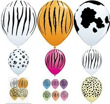 "Qualatex 15 x 11"" Animal Print Latex Balloons Suitable for air or helium"