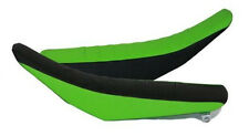 Flu Designs Kawasaki 3-Panel Pleated Grip Seat , Black/Green, Many Years/Models!