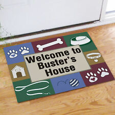 Personalized Dogs House Doormat Dog Lover Welcome Doormat Custom Name Door Mat
