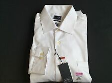 Arrow Fitted Sateen No-Iron Point-Collar White Sz.16 1/2 32/33,17 1/2 32/33  #43