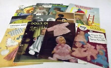 Doll Clothes and Toys Knitting Pattern Booklets/Books You Choose Patons Weldons