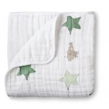NEW ADEN  ANAIS 4 LAYER Muslin DREAM Blanket Up Up and Away Baby unisex Elephant