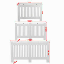 Radiator Cover White Painted Wall Cabinet Wood MDF Heating Covers Shelf New