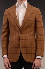 RUBINACCI Napoli Brown Windowpane Cashmere Blazer Jacket Soft