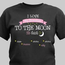 Personalized T-Shirt For Mom / Grandma I Love my Grandkids to The Moon T-Shirt