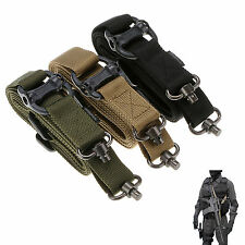 Quick Release 2 Point Multi AR AK Rifle Gun Tactical Sling Strap Metal Buckle GY