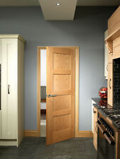 INTERNAL OAK 4 PANEL SHAKER FIRE DOORS FD30