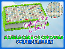 SCRABBLE Cake Toppers Edible image sugar SHEET topper Birthday icing frosting