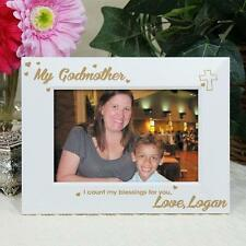 Personalized My Godmother Picture Frame Engraved Godmother White Photo Frame