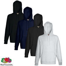 New Fruit of the Loom Men's Hooded Sweatshirt Hoodie 4 Colours S/M/L/XL/XXL