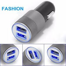 Mini Dual USB Twin Port 12V Universal In Car Lighter Socket Charger Adapter plug