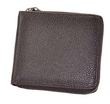Mens Genuine Leather Zipper Wallet Pockets Money Purse Credit Card Clutch Bifold