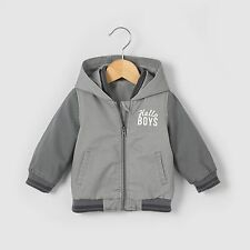 R Baby Baby Boys Hooded Bomber Jacket, 1 Month-3 Years