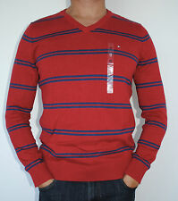 100% AUTHENTIC MENS TOMMY HILFIGER COTTON V NECK KNIT SWEATER / JUMPER SIZE M