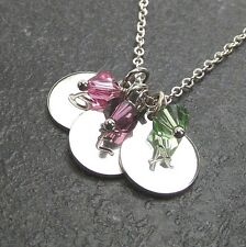 Customized Letter Charm Necklace made by Swarovski Birthstone Personalized Gift
