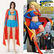 DC Comics Supergirl Dress Skirt Cosplay Costume Separated Version Halloween