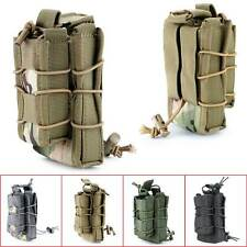 TACO MOLLE Tactical Military Open Double Rifle and Single Pistol Mag Pouch Cool