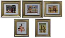 The Beach Collection by Jack Vettriano Set of 5 Framed & Mounted Art Prints