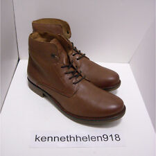 NEW LEVIS MENS ANKLE LEATHER SHORT BOOTS SHOES BROWN SIZE 10