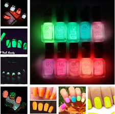Candy Colors Luminous Nail Art Polish Chic Fluorescent Neon Glow In Dark Varnish