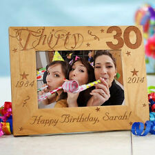 Personalized 30th Birthday Picture Frame Engraved Milestone Photo Frame 3 sizes