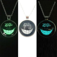 Fashion Devil Smile Style Necklace Glow Cabochon Silver Chain Pendant Necklace