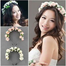 Floral Flower Garland Bridal Headband Hairband Wedding Prom Hair Accessories