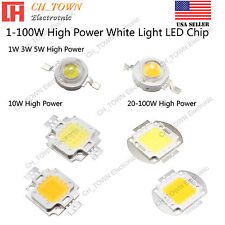 1W 3W 5W 10W 20W 30W 50W 100W White Warm White High Power LED Chip Light Beads